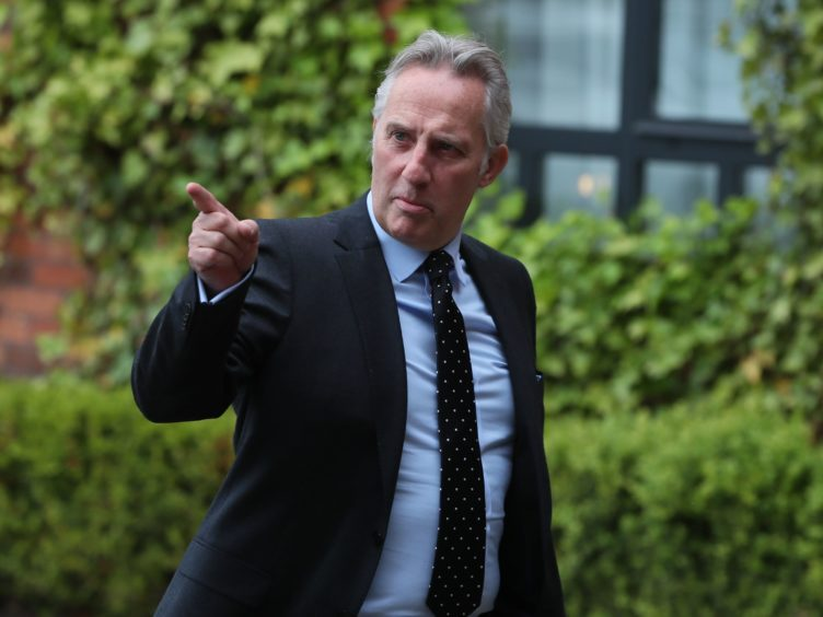 Ian Paisley has apologised to Robin Swann for calling him dangerous, his party leader has said (Brian Lawless/PA)