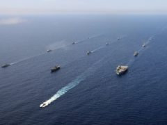 The carrier strike group in the Mediterranean (LPhot Unaisi Luke/Ministry of Defence/Crown Copyright)