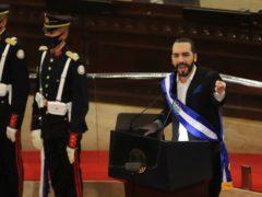 El Salvador's President Nayib Bukele (Salvador Melendez/AP)