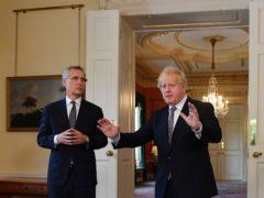Nato secretary-general Jens Stoltenberg had talks with Prime Minister Boris Johnson at 10 Downing Street (Justin Tallis/PA)