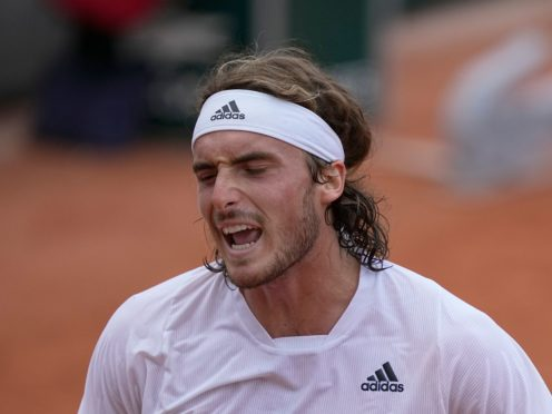 Stefanos Tsitsipas was not happy with his performance against Pedro Martinez despite a straight-sets win (Michel Euler/AP)