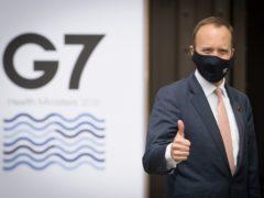Matt Hancock prepares to welcome his G7 counterparts (Stefan Rousseau/PA)