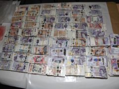 Money found in the possession of Tara Hanlon when she was stopped at Heathrow (NCA/PA)
