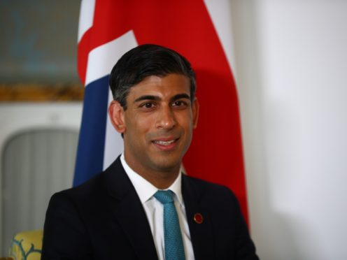 Chancellor of the Exchequer Rishi Sunak (Hannah McKay/PA)