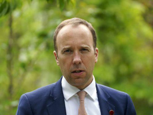 Secretary of State for Health Matt Hancock (Steve Parsons/PA)