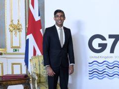 Chancellor Rishi Sunak branded the G7 tax decisions 'historic' (Alberto Pezzali/PA)