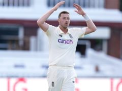 Ollie Robinson took seven wickets on his Test debut (Adam Davy/PA)