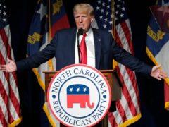 Former President Donald Trump speaks at the North Carolina Republican Convention (Chris Seward)