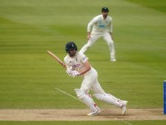 Dom Sibley was 19 not out at tea (Adam Davy/PA)