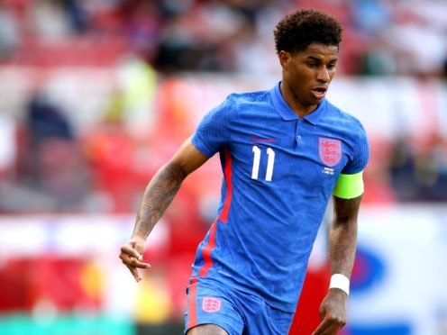 Marcus Rashford captained England in their recent Euro 2020 warm-up win over Romania (Nick Potts/PA)