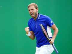 Dan Evans was in action in Nottingham, having lost in the first round of the French Open last week (Zac Goodwin/PA)