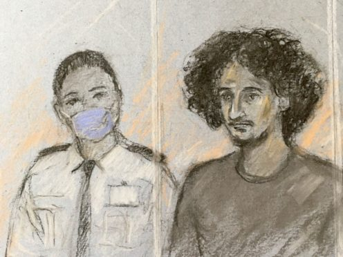 Danyal Hussein appearing in the dock at the Old Bailey (Elizabeth Cook/PA)