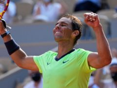 Rafael Nadal celebrates victory over Diego Schwartzman (Michel Euler/AP)