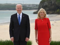 US President Joe Biden and First Lady Jill Biden (Leon Neal/PA)