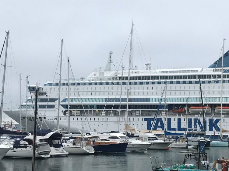 A ferry in Falmouth where a police officer who was being accommodated onboard returned a positive lateral flow test for coronavirus on Friday morning (David Hughes/PA)