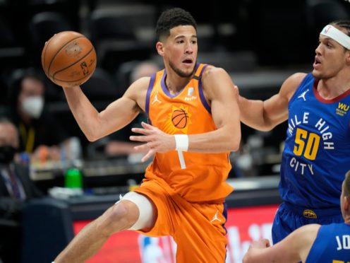 The Phoenix Suns are one game away from the Western Conference finals after they defeated the Denver Nuggets' 116-102 (David Zalubowski/AP)