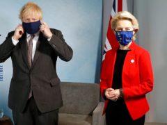 Prime Minister Boris Johnson with European Commission president Ursula von der Leyen (Peter Nicholls/PA)
