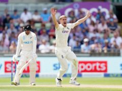 England's Olly Stone appeals unsuccessfully for the wicket of New Zealand's Tom Blundell (Mike Egerton/PA)