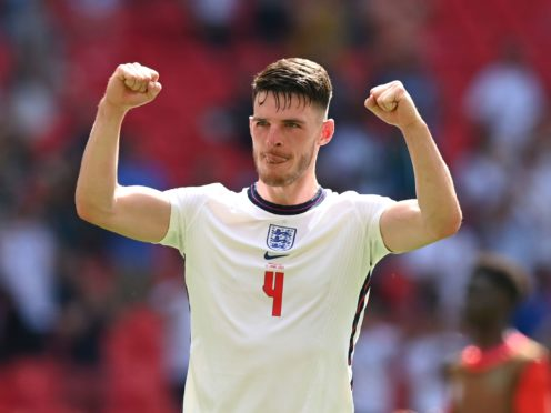 Declan Rice will be keen to keep his place in the England side for Friday's Euro 2020 clash with Scotland. (Glyn Kirk/AP)