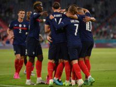 France edged out Germany in Munich (Matthias Hangst/Pool via AP)