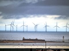 Dark skies above Fort Perch Rock in New Brighton, Wirral (Peter Byrne/PA)