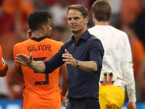 Frank De Boer has guided Holland to top spot in Group C (Dean Mouhtaropoulous/Pool via AP)