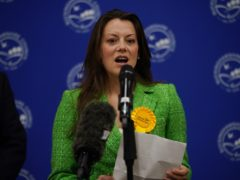 Sarah Green of the Liberal Democrats makes a speech after being declared winner in the Chesham and Amersham by-election at Chesham Leisure Centre in Chesham, Buckinghamshire, where she defeated Conservative candidate Peter Fleet, who came second. Picture date: Friday June 18, 2021.