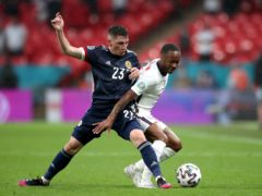 Scotland's Billy Gilmour battles with England forward Raheem Sterling on Friday (Nick Potts/PA)