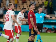 Gerard Moreno's penalty miss proved costly for Spain as Poland held out to earn a point (Thanassis Stavrakis/AP)