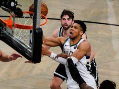 Milwaukee Bucks' Giannis Antetokounmpo helped his side to the win (Frank Franklin II/AP)