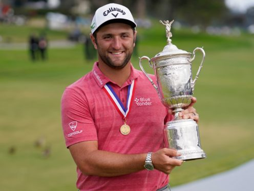 Jon Rahm hailed the 'power of positive thinking' after winning his first major title with a stunning finish in the 121st US Open (Marcio Jose Sanchez/AP)