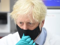 Prime Minister Boris Johnson during a visit to the National Institute for Biological Standards in South Mimms, Hertfordshire. Picture date: Monday June 21, 2021.