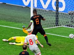 Georginio Wijnaldum extends Holland's lead with the second goal in their Group C victory over North Macedonia (Olaf Kraak/AP/PA)