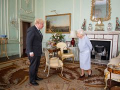The Queen Prime Minister Boris Johnson at Buckingham Palace