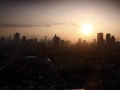 Sun rises over the city of Shanghai (David Davies/PA)