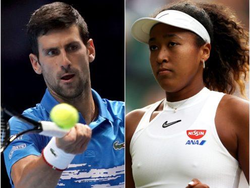Novak Djokovic and Naomi Osaka (Steven Paston/John Walton/PA)