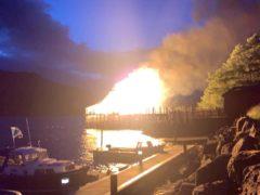 Locals saw the devastating blaze (John Ward/PA)