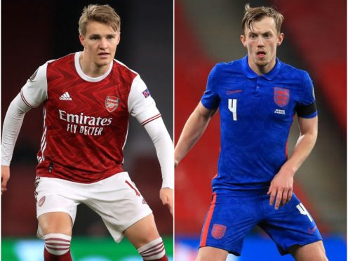 Martin Odegaard and James Ward-Prowse feature in today's transfer speculation (Adam Davy/Adam Davy/PA)
