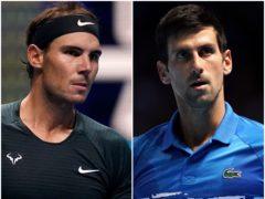 Rafael Nadal and Novak Djokovic (PA)