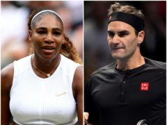 Serena Williams and Roger Federer (PA)
