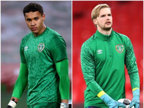 Gavin Bazunu, left, and Caoimhin Kelleher impressed for the Republic of Ireland (Brian Lawless/Nick Potts/PA)