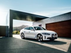 The i4 features a solely electric powertrain