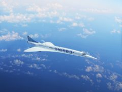 United Airlines has conditionally agreed to buy planes capable of flying at speeds of Mach 1.7, which is twice as fast as modern airliners ((Boom Supersonic/PA)