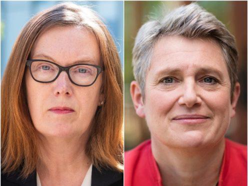 Professor Sarah Gilbert and Kate Bingham (John Cairns/University of Oxford/Tom Kates/PA)