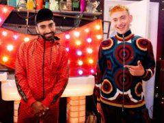 Olly Alexander with Mawaan Rizwan (YouTube Pride 2021/PA)