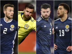 David Marshall (left to right) Stephen O'Donnell, Grant Hanley and Che Adams are four of the players left behind (Radek Petrasek/Ian Rutherford/Jane Barlow/Andrew Milligan/PA)