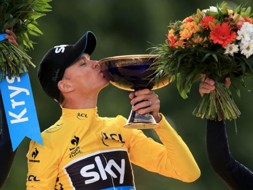 Chris Froome celebrates winning the 2015 Tour de France (Mike Egerton/PA)