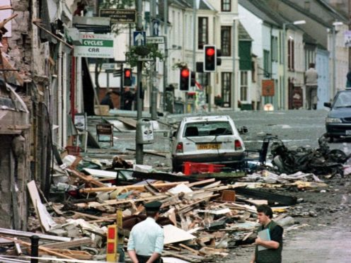 Twenty-nine people, including a woman pregnant with twins, died in the Omagh bombing (Paul McErlane/PA)