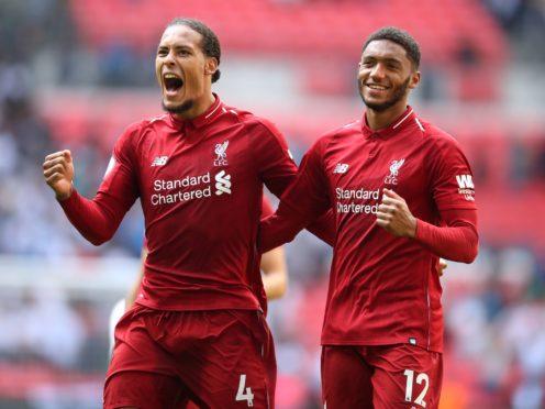Liverpool's Virgil van Dijk (left) and Joe Gomez returned to action (Adam Davy/PA)