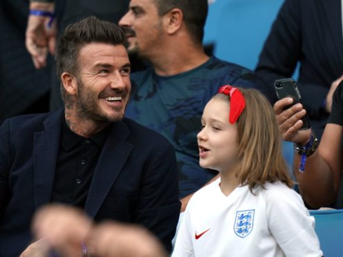 David Beckham and daughter Harper (John Walton/PA)